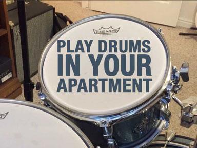 quiet apartment drumming
